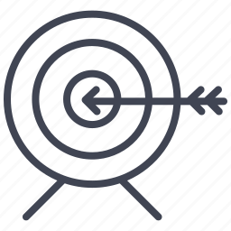 aim, bullseye, business, marketing, target icon