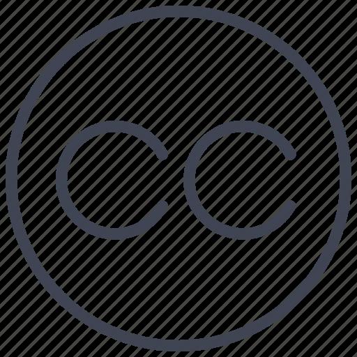 business, c, cc, circle, marketing icon