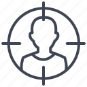 business, headhunt, search, seeker, target icon