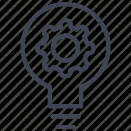 bulb, business, idea, innovation, light icon