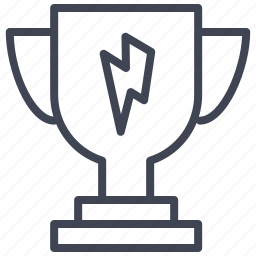 award, business, lightening, lightning, prize, trophy icon