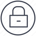 business, lock, locked, protection, secure, security icon