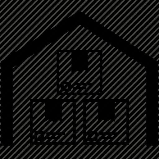 depot, room, storage garage, store, storehouse, supplies, warehouse icon