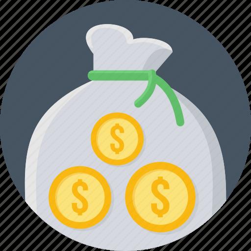 bag, budget, cash, finance, funds, money, payment icon