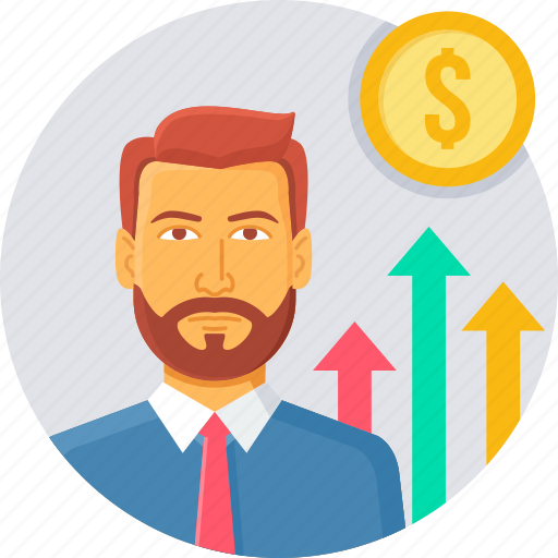 business, graph, growth, increase, presentation, revenue icon