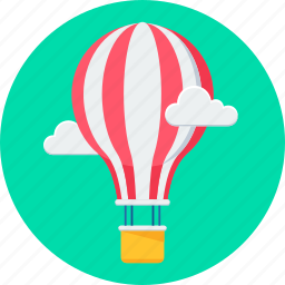 air, balloon, parachute icon