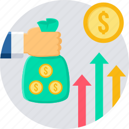 business, finance, growth, income, increase, revenue, sales icon