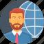 business, employee, global, international icon