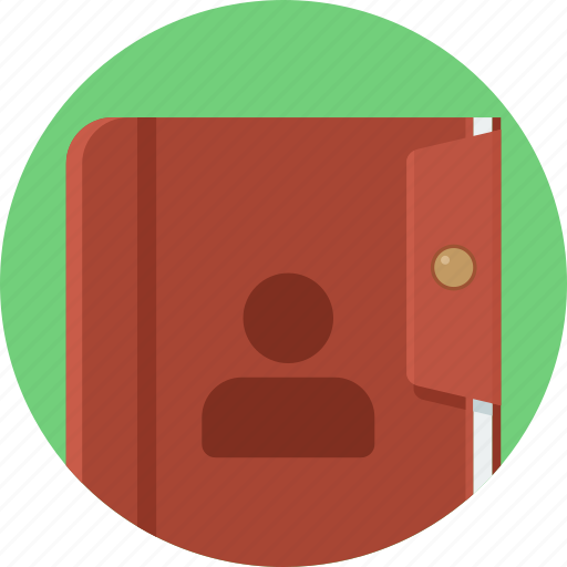 business, contact, file, folder, record, register icon