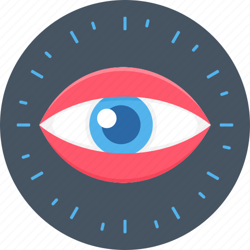check, eye, look, vision icon