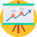 presentation, analysis, analytics, business, diagram, report, statistics icon