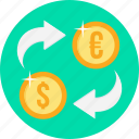 business, convert, currency, money, payment, transfer icon