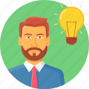 business, idea, innovation, lightbulb icon