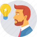 creative, idea, innovation, lightbulb icon