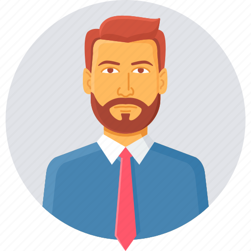 avatar, boss, businessman, employee, manager, person, profile icon