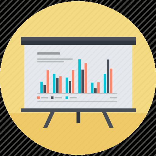 analytics, business, chart, flat design, planning, presentation, strategy icon