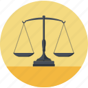 balance, business, flat design, law, lawyer, round icon