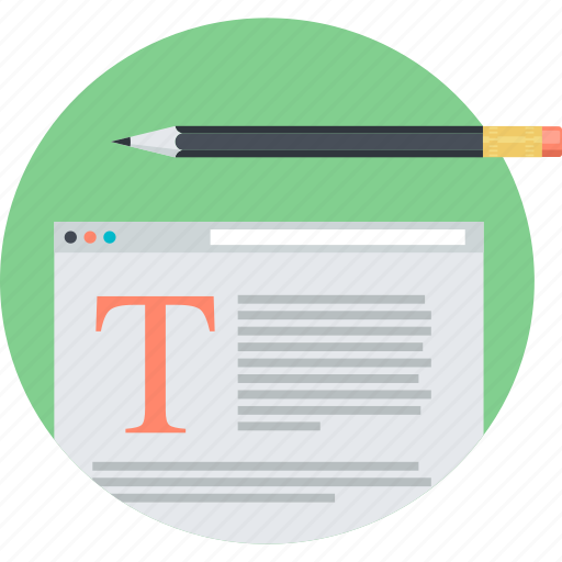 blogging, content, flat design, round, social media, web icon