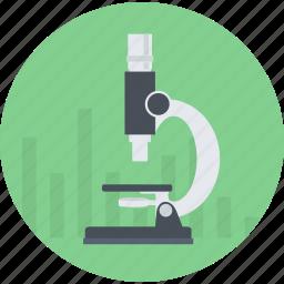 analysis, development, flat design, market, research, round, science icon