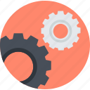 flat design, gears, maintenance, management, service, technical support, technology icon