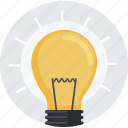 business, creative, flat design, idea, innovation, light bulb, marketing icon