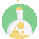 banking, finance, flat design, investment, make, money, round icon