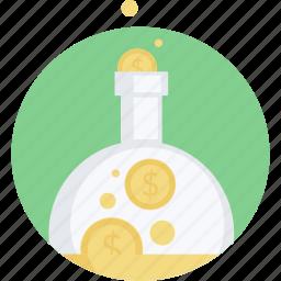 banking, finance, flat design, investment, make, money, round icon