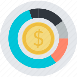 analysis, business, chart, finance, flat design, management, money icon