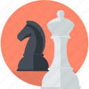 business, chess, concept, flat design, marketing, planning, strategy icon