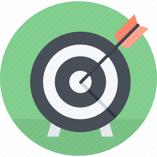 business, flat design, market, marketing, round, strategy, target icon
