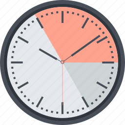 clock, event, flat design, management, round, schedule, time icon