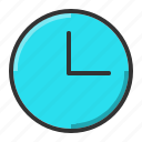 alarm, clock, schedule, wall icon