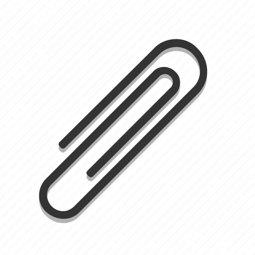 paper, paperclip, stationery icon