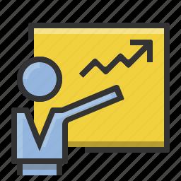analytics, chart, finance, graph, marketing, presentation, statistics icon