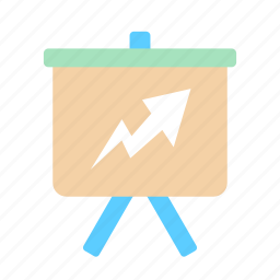 analysis, business, chart, diagram, financial, presentation, stock icon