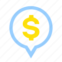 business, financial, location, money, position, stock, wealth icon