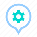 business, configuration, gear, location, option, position, setting icon