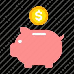 business, coin bank, financial, money, piggy bank, property, saving icon