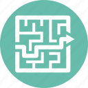 labyrinth, maze, strategy icon
