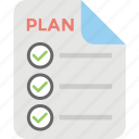 checklist, file, list, memo, plan icon