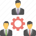 business management, business marketing, business strategy, professionals, teamwork icon