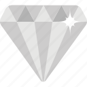 diamond, gem, gemstone, jewel, stone icon