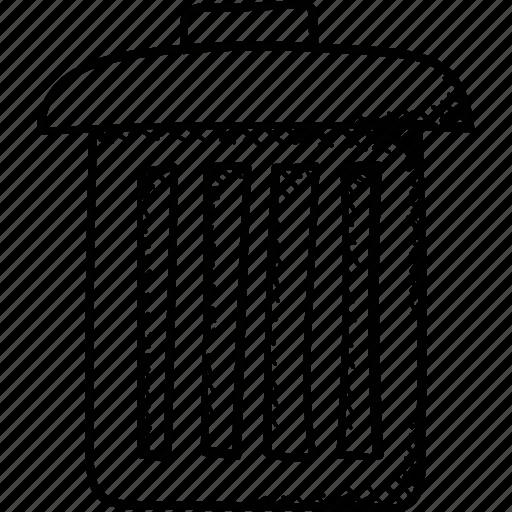 Dustbin, garbage can, trash bin, rubbish bin, recycle bin icon