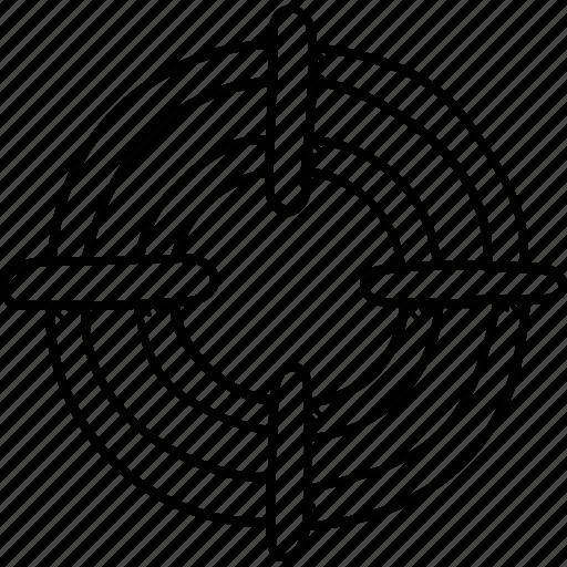 bullseye, dartboard, goal, objective, target icon