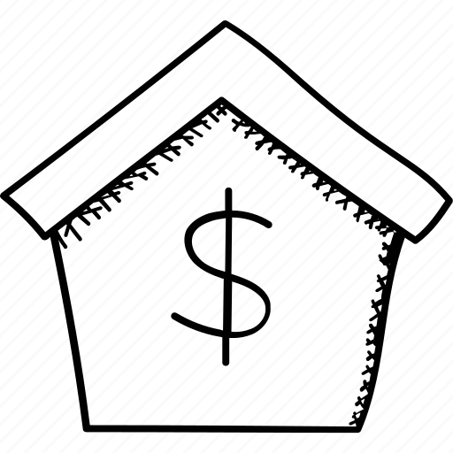 Home loan, house for sale, bank, mortgage, house price icon