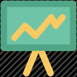 chart, diagram, graph board, increasing, presentation chart, profit, rising icon