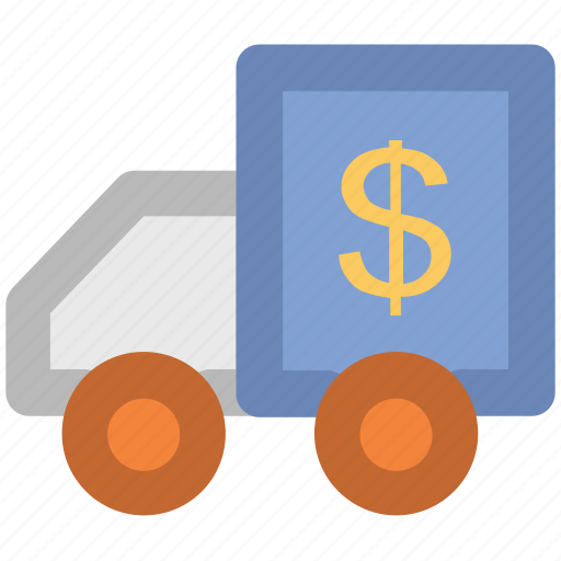 auto, automobile, bank delivery, bank van, bank vehicle, collector car, mobile bank icon