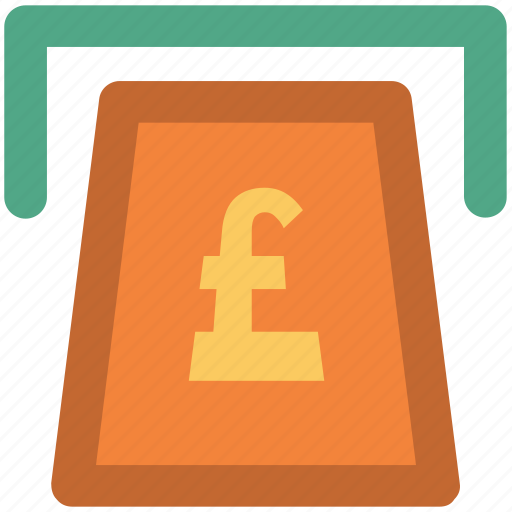 atm, atm withdrawal, cash withdrawal, payment withdrawal, pound, transaction icon