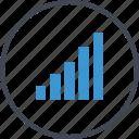 bars, business, data, graph, report icon