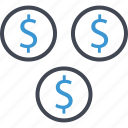 business, dollar, money, pay, sign icon
